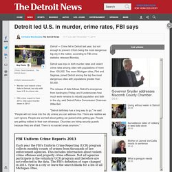 Detroit led U.S. in murder, crime rates, FBI says