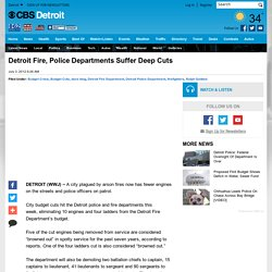 Detroit Fire, Police Departments Suffer Deep Cuts