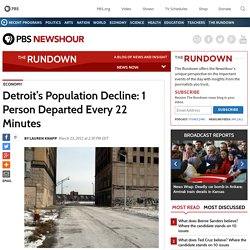 Detroit's Population Decline: 1 Person Departed Every 22 Minutes