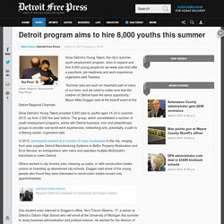 Detroit program aims to hire 8,000 young people this summer