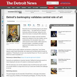 In Detroit's recovery, you've gotta have art