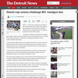 Detroit cop unions push NFL to rescind ban on police handguns at Ford Field