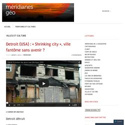 Detroit (USA) : « Shrinking city », ville fantôme sans avenir ?