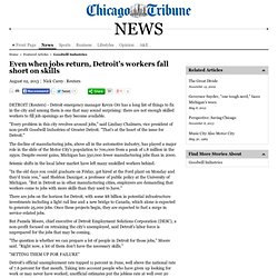 Even when jobs return, Detroit's workers fall short on skills