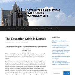 Detroiters Resisting Emergency Management