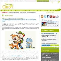 Chrome en passe de détrôner Firefox de sa deuxième place