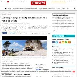 Un temple maya détruit pour construire une route au Belize