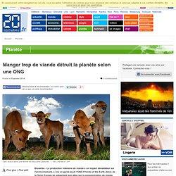 Manger trop de viande détruit la planète selon une ONG