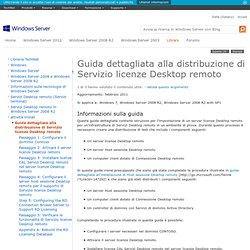 Guida dettagliata alla distribuzione di Servizio licenze Desktop remoto