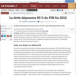 Conjoncture : La dette dépassera 90% du PIB fin 2012
