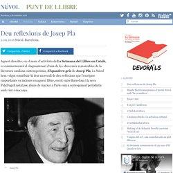 Deu reflexions de Josep Pla