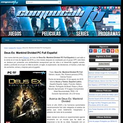 Deus Ex: Mankind Divided PC Full Español