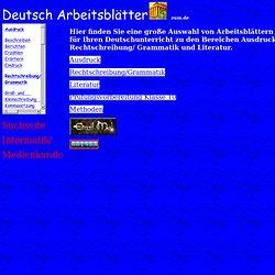 Deutsch Arbeitsblätter