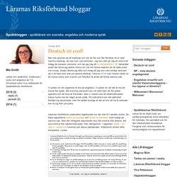Deutsch ist cool! - Språkbloggen