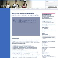 Deutsch als Fremd- und Zweitsprache