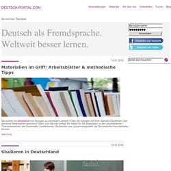 Deutsch als Fremdsprache. Weltweit besser Lernen.