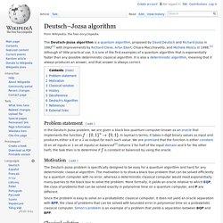 Deutsch–Jozsa algorithm