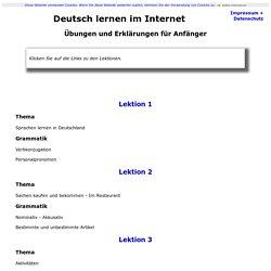 Deutsch lernen im Internet