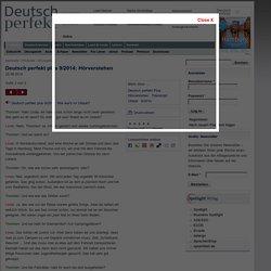 Deutsch perfekt plus 9/2014: Hörverstehen