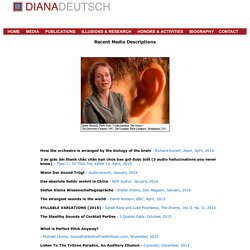 Diana Deutsch - Recent Media Descriptions