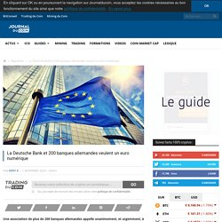La Deutsche Bank et 200 banques allemandes veulent un euro numérique