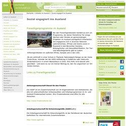 Deutsche im Ausland e.V.:Sozial engagiert ins Ausland