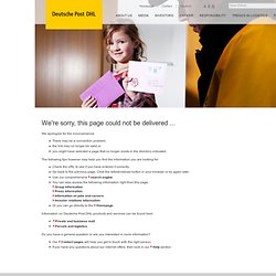 Deutsche Post DHL | Delivering Tomorrow - Logistics 2050