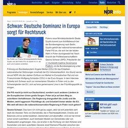 Schwan: Deutsche Dominanz in Europa sorgt für Rechtsruck
