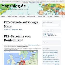Deutsche PLZ-Gebiete auf Google Maps durchsuchen