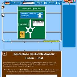 Deutsche Lektionen für das thema Essen - Obst gratis online