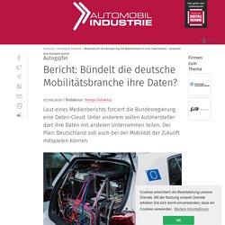 Bericht: Bündelt die deutsche Mobilitätsbranche ihre Daten?