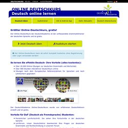 Online Deutschkurs - Online Deutsch lernen, gratis!