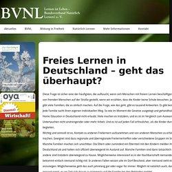 Rechtliche Situation in Deutschland - BVNL - Bundesverband Natürlich Lernen! e. V.