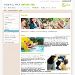 Deutsch üben - In Deutschland leben - Freizeit-Goethe-Institut