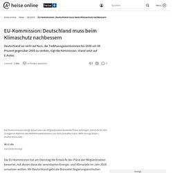 EU-Kommission: Deutschland muss beim Klimaschutz nachbessern
