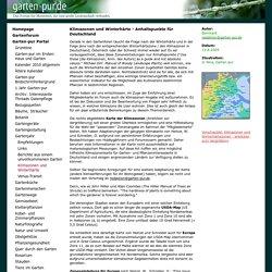Klimazonen in Deutschland und Winterhärte