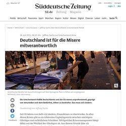 Jeffrey Sachs über Deutschlands Griechenland-Politik