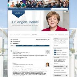 Direkt zur Kanzlerin! - Frankreich will Deutschunterricht einschränken und gibt das Gegenteil vor