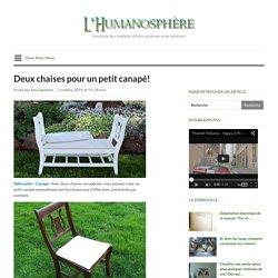 Deux chaises pour un petit canapé!