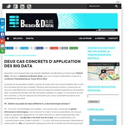 Deux cas concrets d'application du Big Data