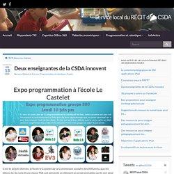 Deux enseignantes de la CSDA innovent