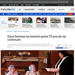 8/09/14 Deux femmes se marient après 72 ans de vie commune