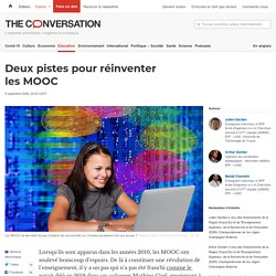 Deux pistes pour réinventer les MOOC