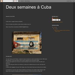 Deux semaines à Cuba