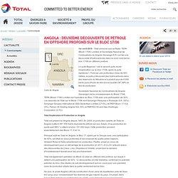 Angola : deuxième découverte de pétrole en offshore profond sur le Bloc 17/06