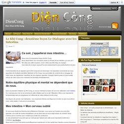 Le Khi Cong : deuxième leçon Le Dialogue avec les Intestins - DienCong