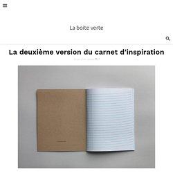 La deuxième version du carnet d'inspiration