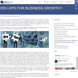 Dev-Ops for Business Growth?