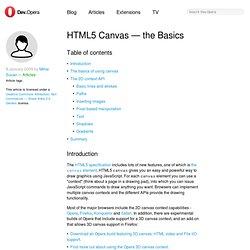 HTML 5 canvas - the basics - Opera Developer Community