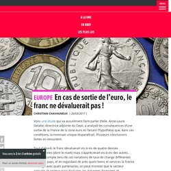 En cas de sortie de l'euro, le franc ne dévaluerait pas !